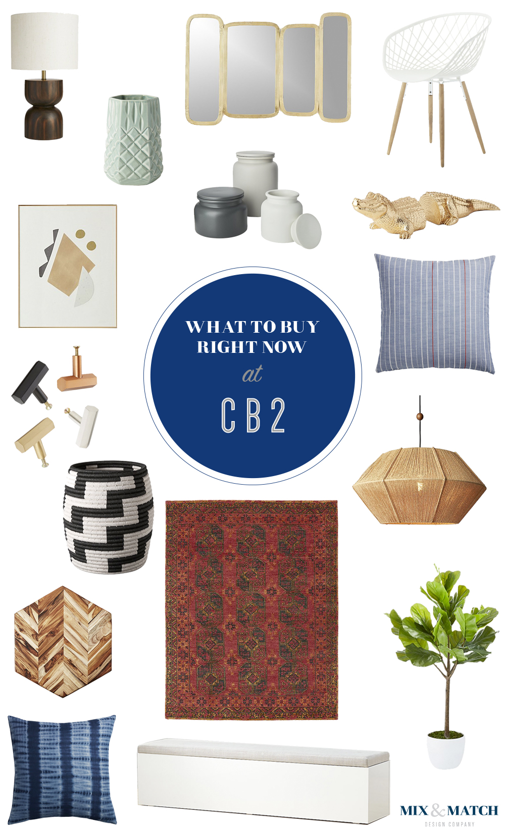 What to buy from CB2's current collection. Click through for the links to these products. // Modern furniture, modern home decor, affordable modern decor.