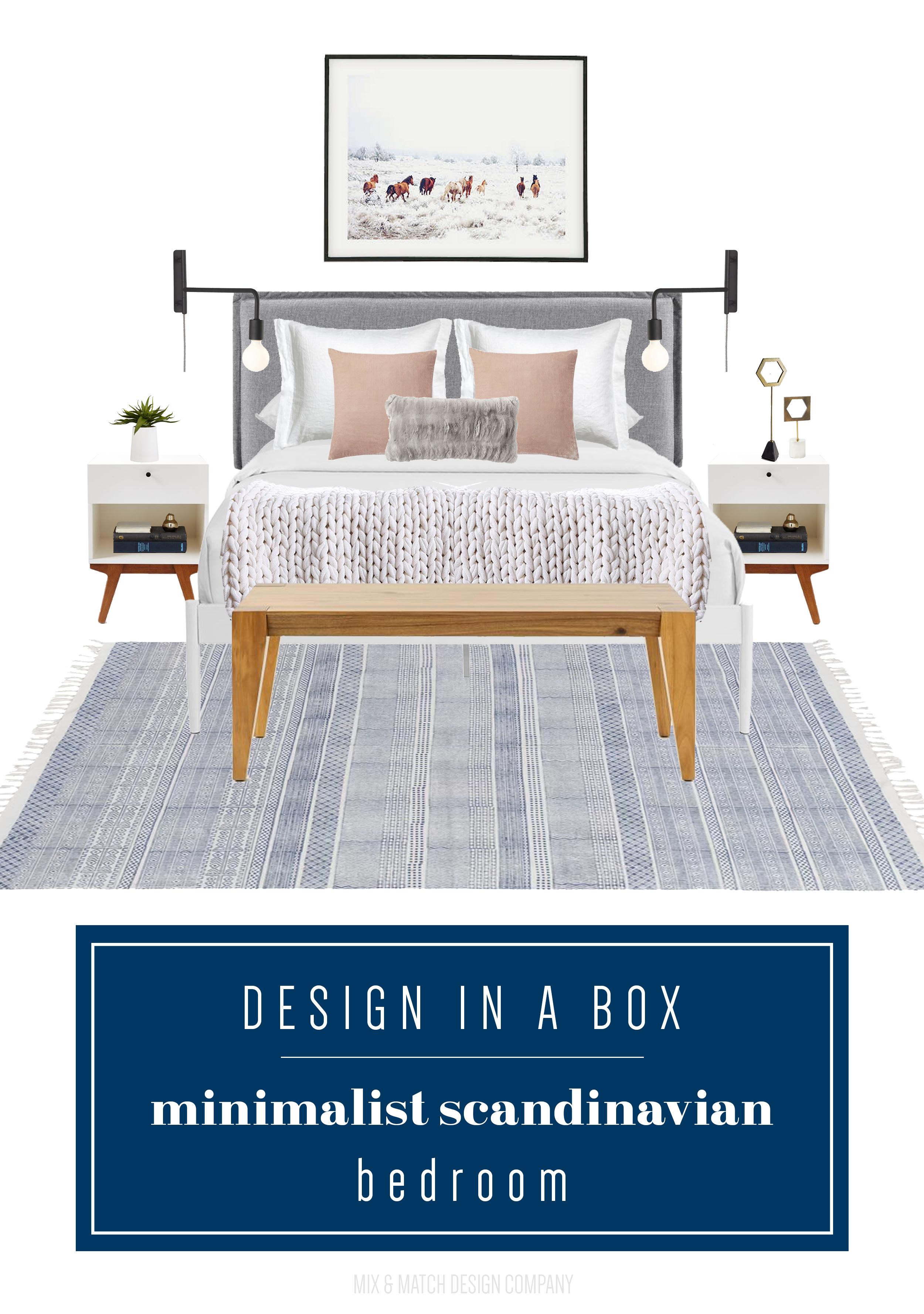 Design In A Box Minimalist Scandinavian Bedroom