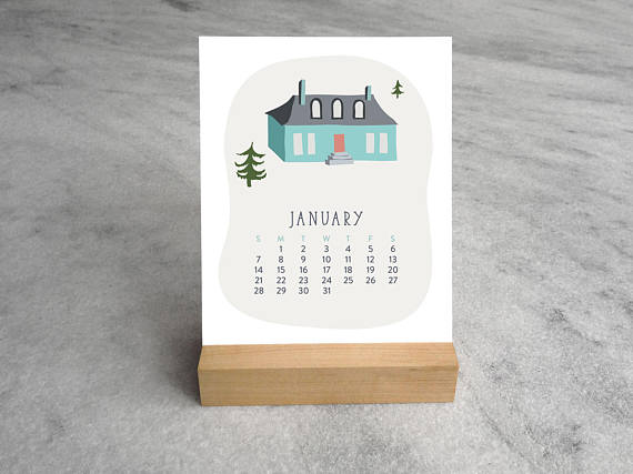 Shop small for Small Business Saturday! This post has a roundup of some of the best Etsy shops for home and decor. (Houses desk calendar from Favorite Story)