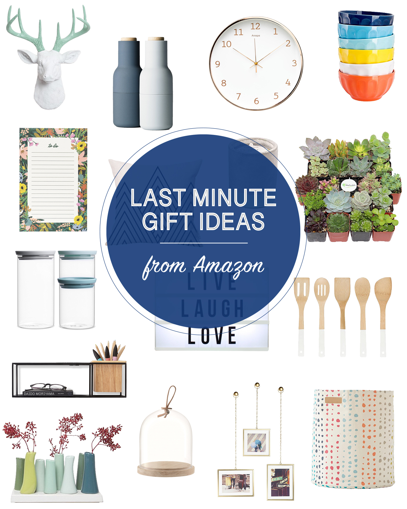 In need of some last minute holiday gift ideas? Here's a great list from Amazon! Take advantage of their two day shipping with a Prime membership. // last minute gift ideas for the home, last minute modern gift ideas