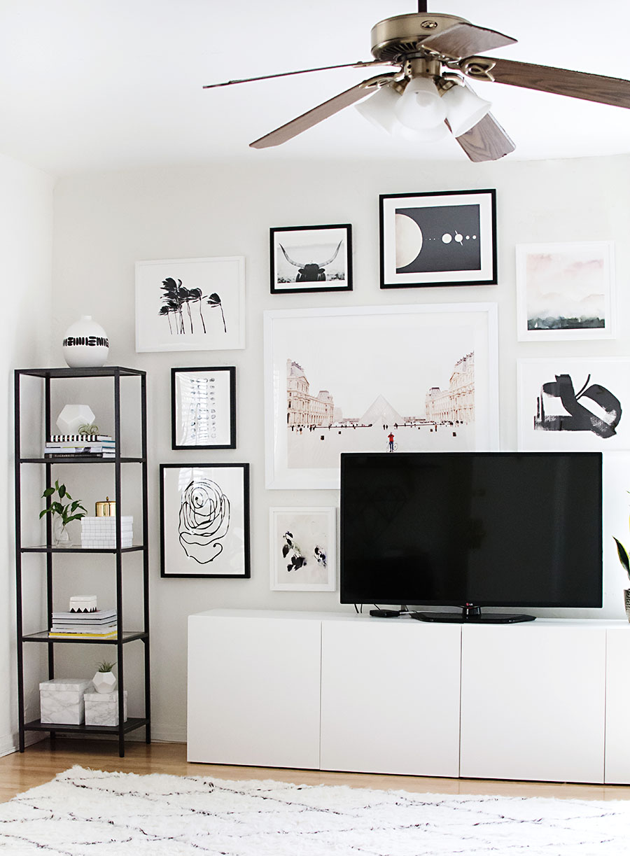 How to decorate around a TV. Come see all sorts of ideas and inspiration in this blog post!