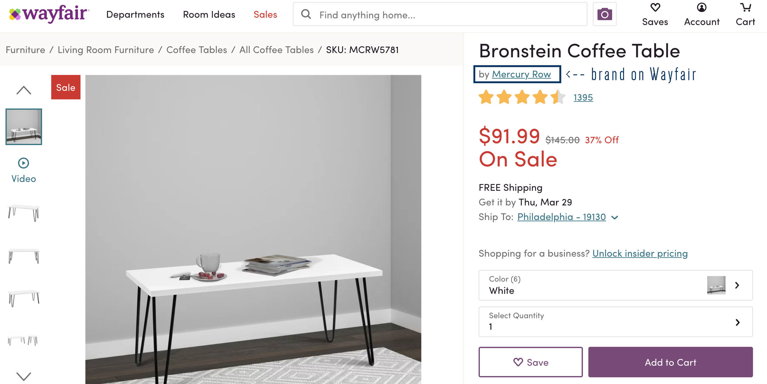 Want to know how to make Wayfair feel less overwhelming when you shop it? Head on over to this blog post for a quick tip!