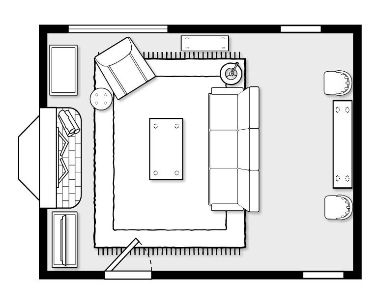 Create Dining Room in Apartment Living Room.png