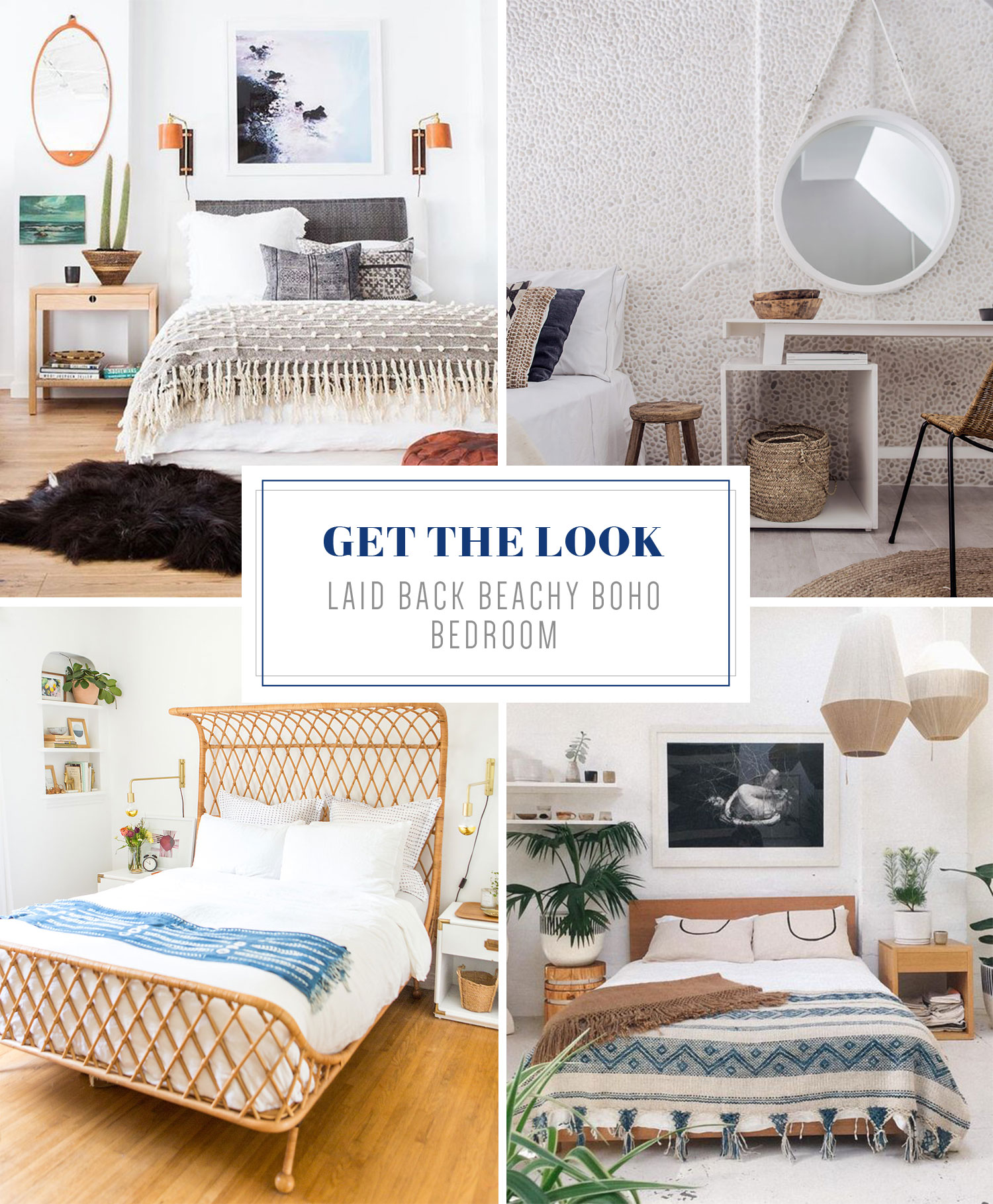 Get that casual, beachy boho vibe in your bedroom! Find out more in this blog post and see Mix & Match Design Company's take on this light and airy bedroom style.