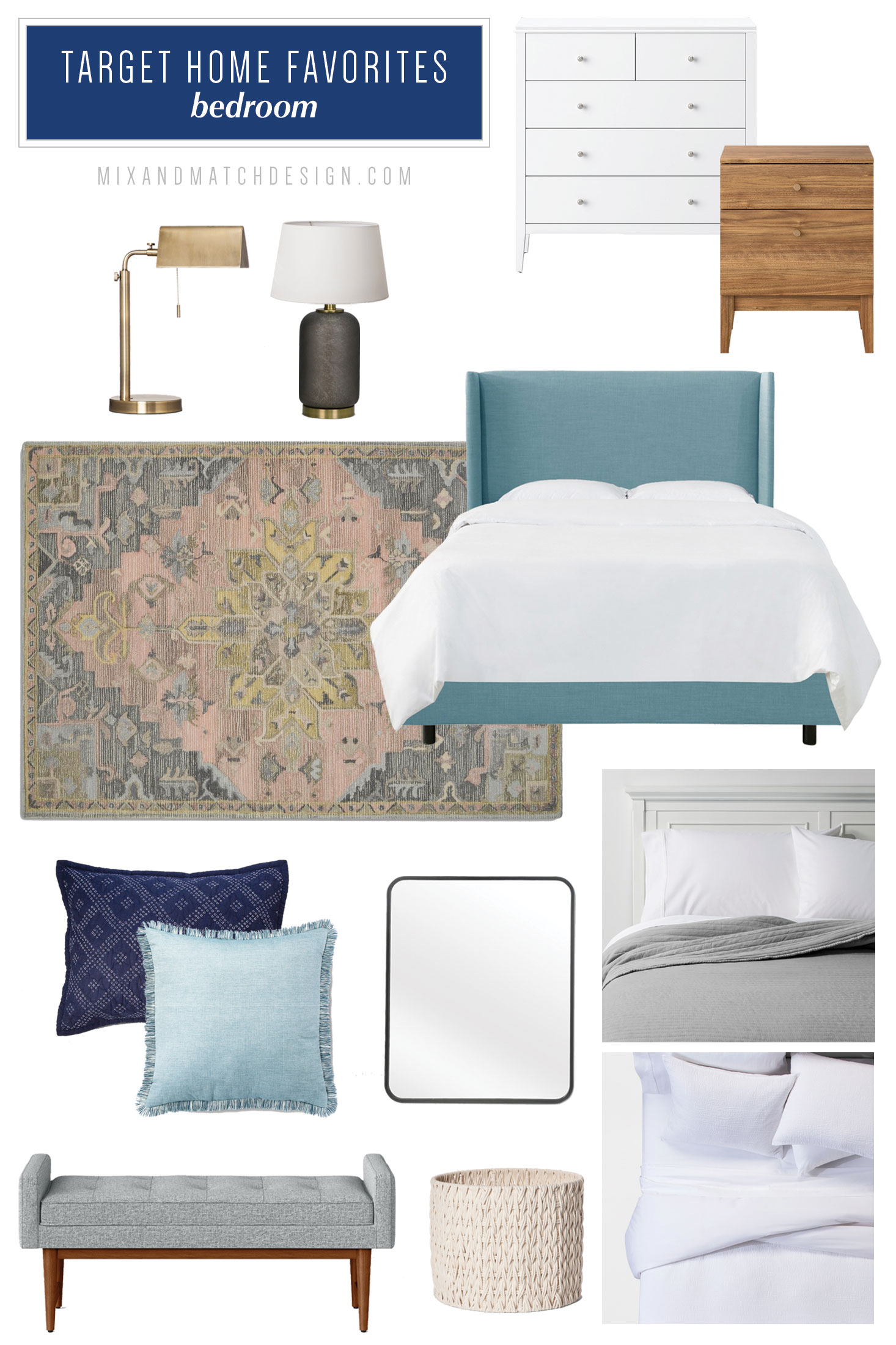 A roundup of the furniture and decor that caught my eye recently at Target. If you're looking for recommendations for affordable items for your bedroom, be sure to check out this blog post with finds from Target brands Threshold, Project62, and Opalhouse.