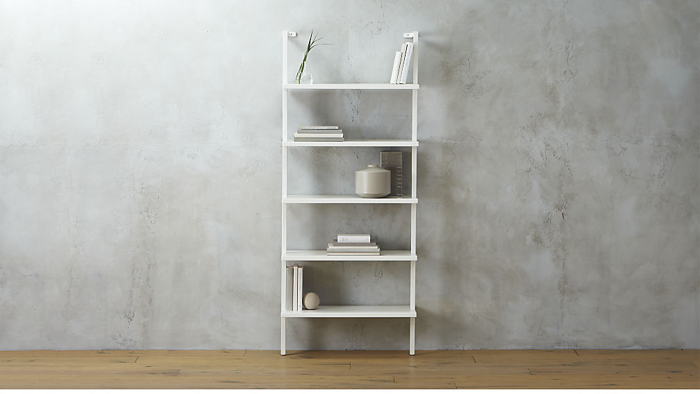 Make the most of the vertical space in your home by adding a wall-mounted bookshelf with open shelving. Find more small space design tips over on the Mix & Match blog!