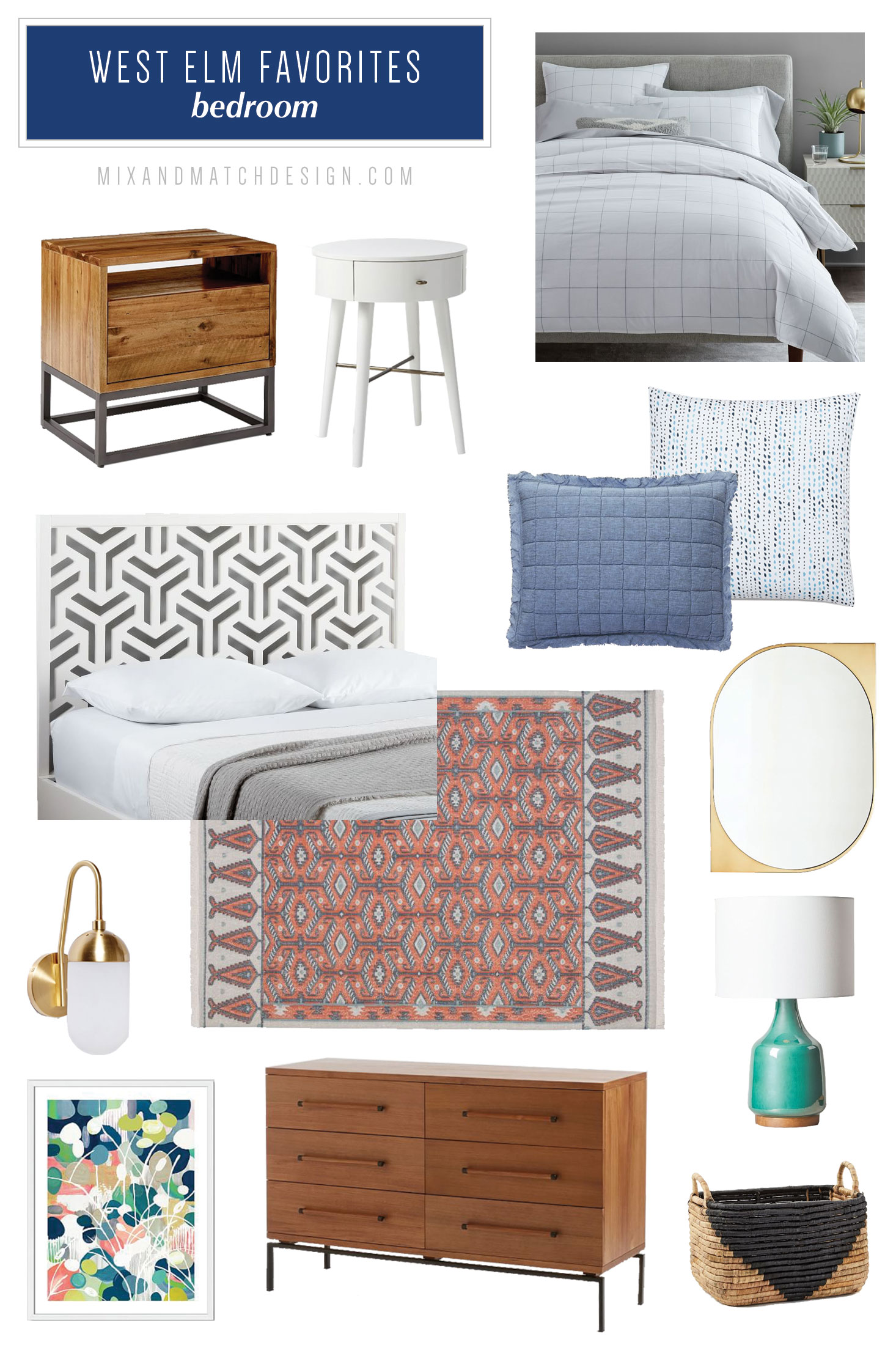A roundup of the furniture and decor that caught my eye recently at West Elm. If you're looking for recommendations for mid-century modern, industrial, and boho items for your bedroom, be sure to check out this blog post with tons of ideas for decorating your home.