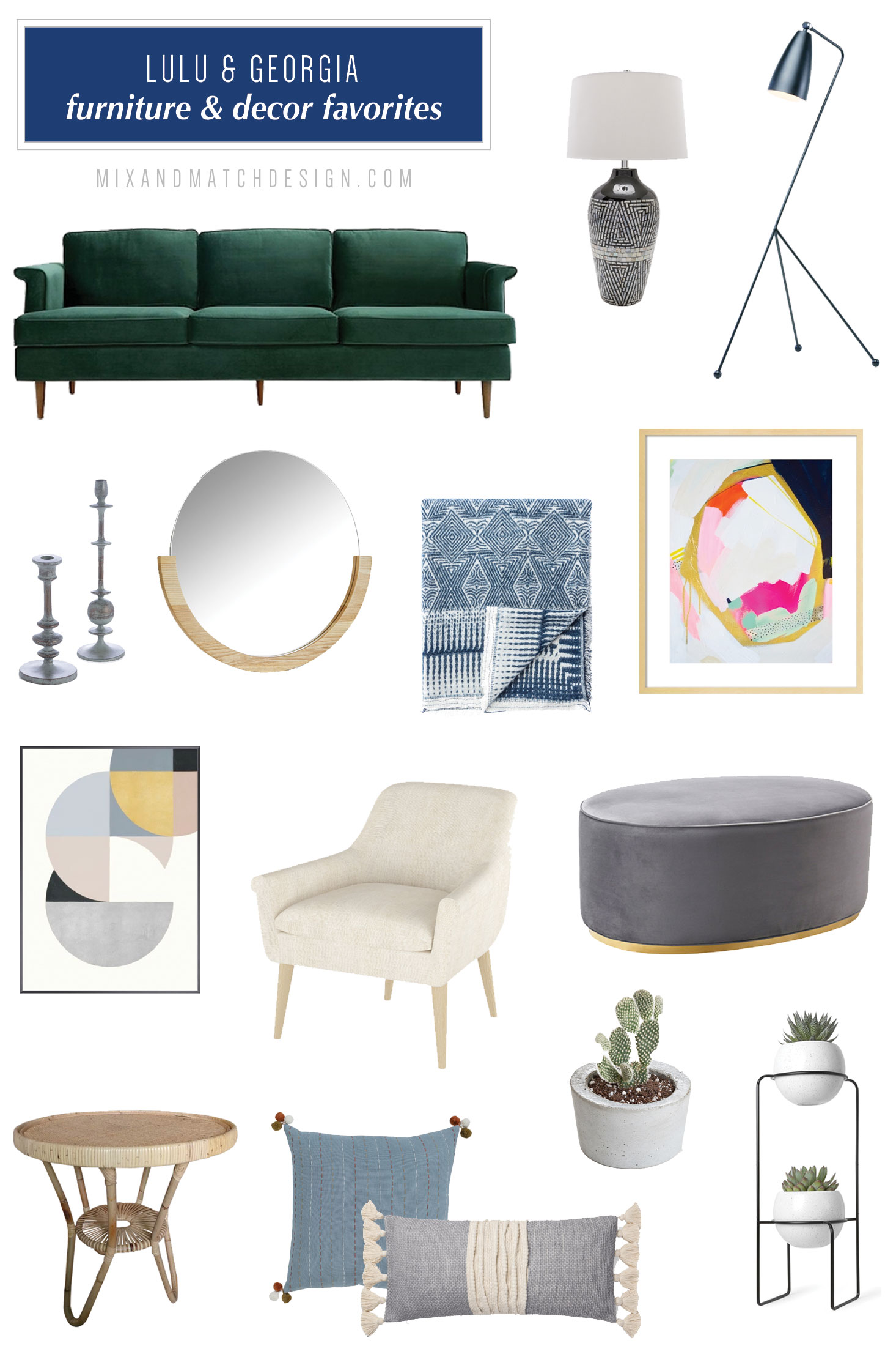 Lulu & Georgia is one of my favorite places to shop for modern, coastal, and eclectic furniture and decor, and I've rounded up a bunch of my favorites from their rug collection to share with you! They have an amazing selection. // #designerfinds #interiordesign #decor #eclecticdecor