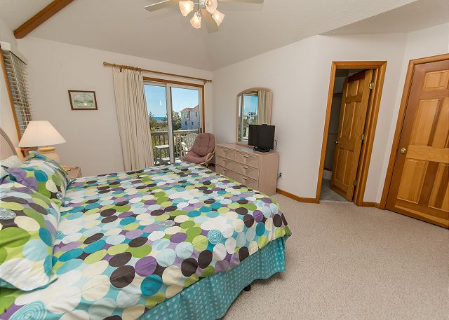 Corolla Beach House Project - master bedroom before