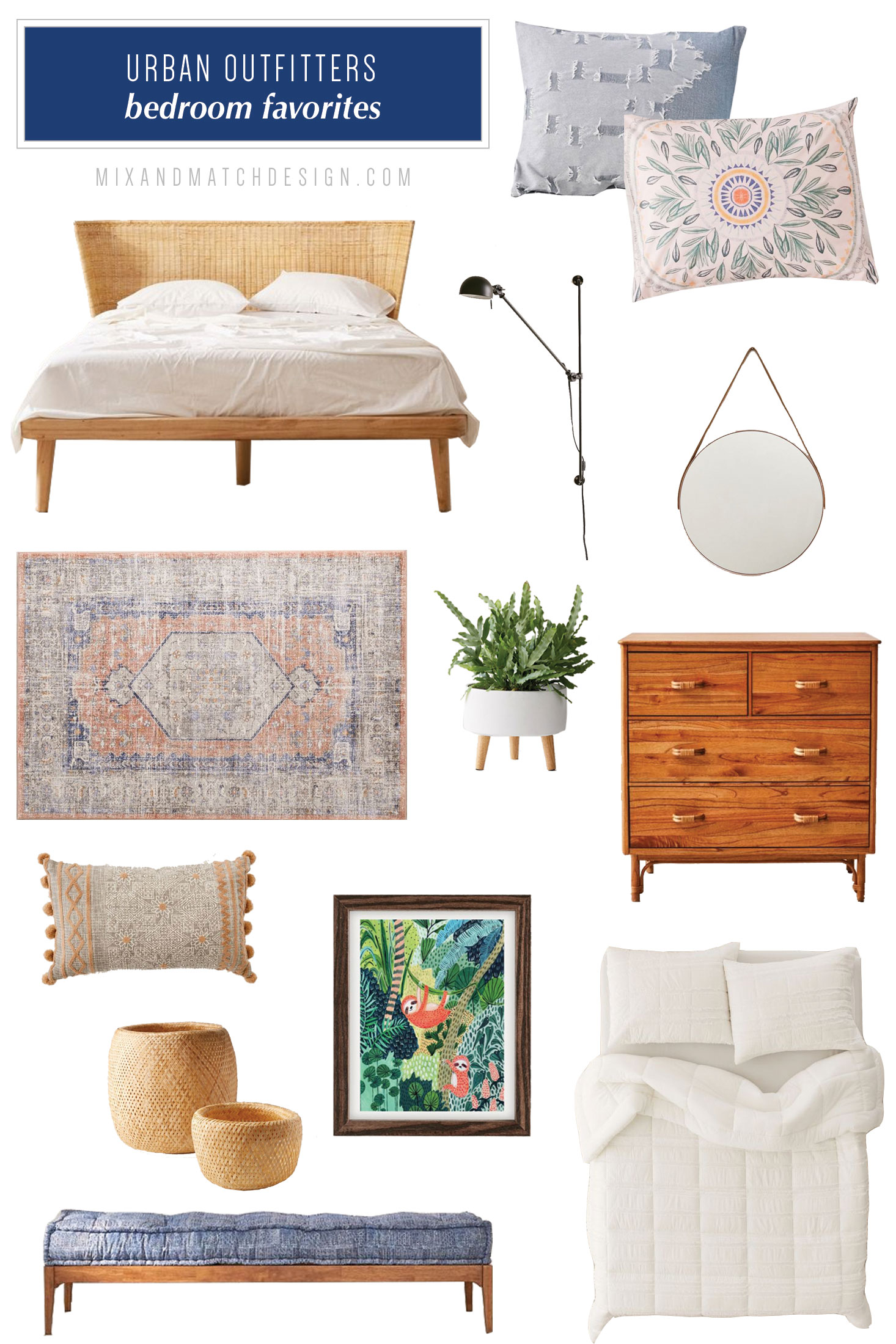 Urban Outfitters is one of my favorite places to shop for quirky, mid-century, and eclectic furniture and decor, and I've rounded up a bunch of my favorites for your living room to share with you! // #designerfinds #interiordesign #decor #eclecticdecor #globaldecor #decorating