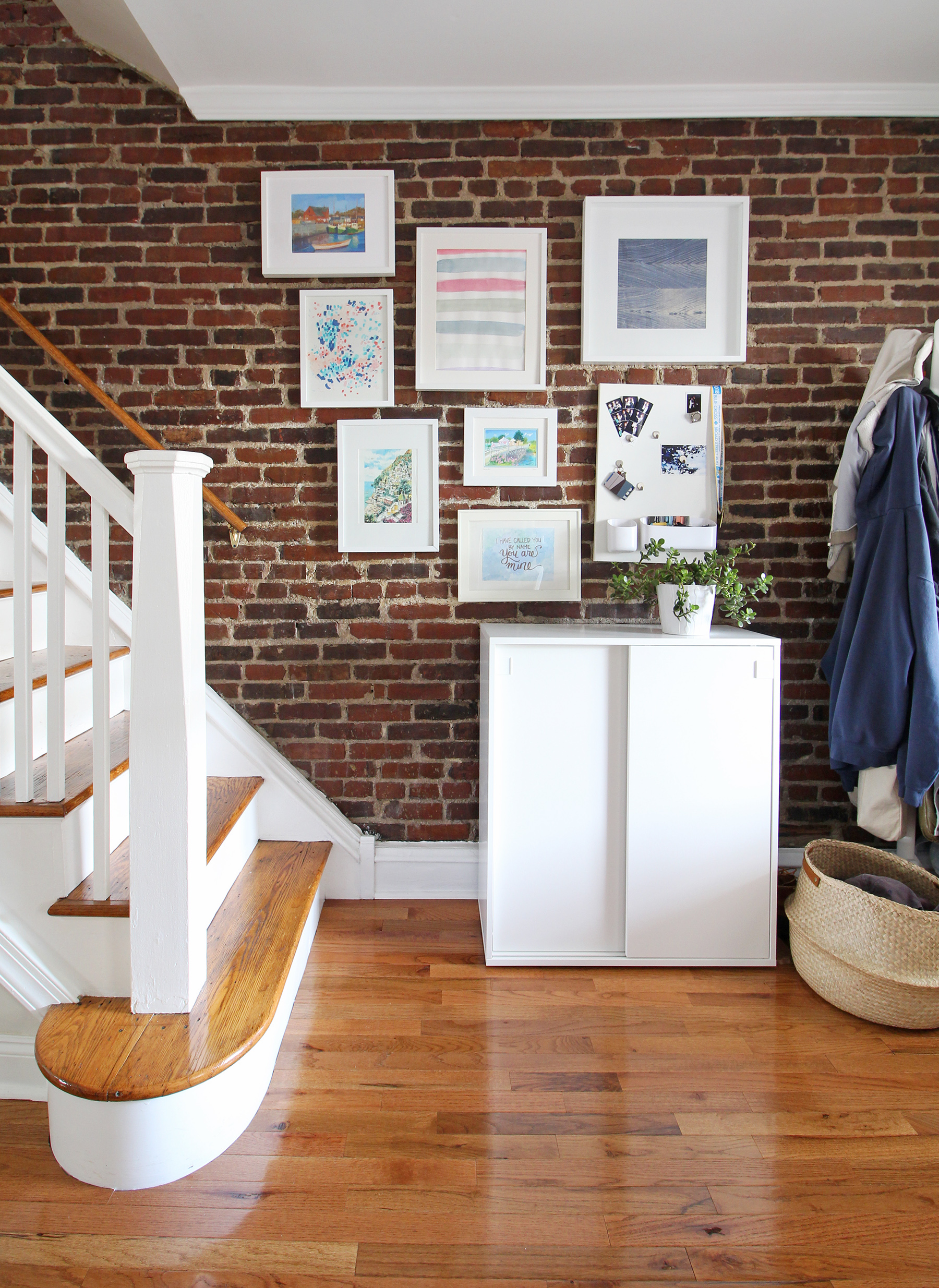Exposed-Brick-Gallery-Wall-Shoe-Cabinet-Entryway-2.jpg
