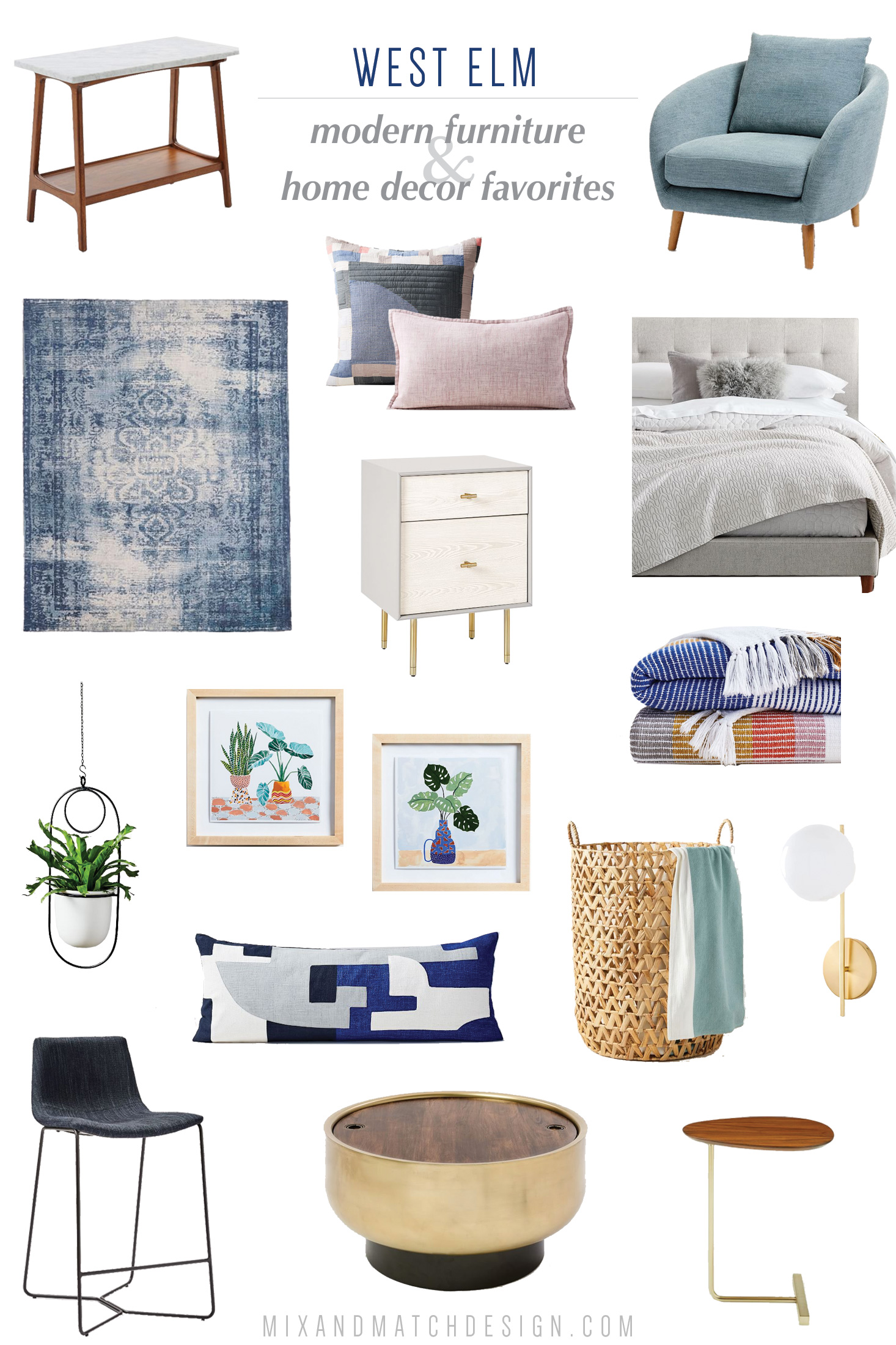 A roundup of the furniture and decor that caught my eye recently at West Elm. If you're looking for recommendations for mid-century modern, industrial, and steamlined items for your home, be sure to check out this blog post for the sources and tips for using these pieces when you're decorating your home.