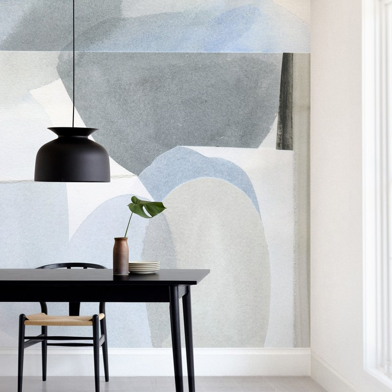Minted now carries removable wall murals! These are a really cool idea for decorating a wall if you want something that has big impact. They're similar to wallpaper, but are more meant to cover a single wall as one cohesive art piece, rather than be a repeating pattern that you could continue around a room.