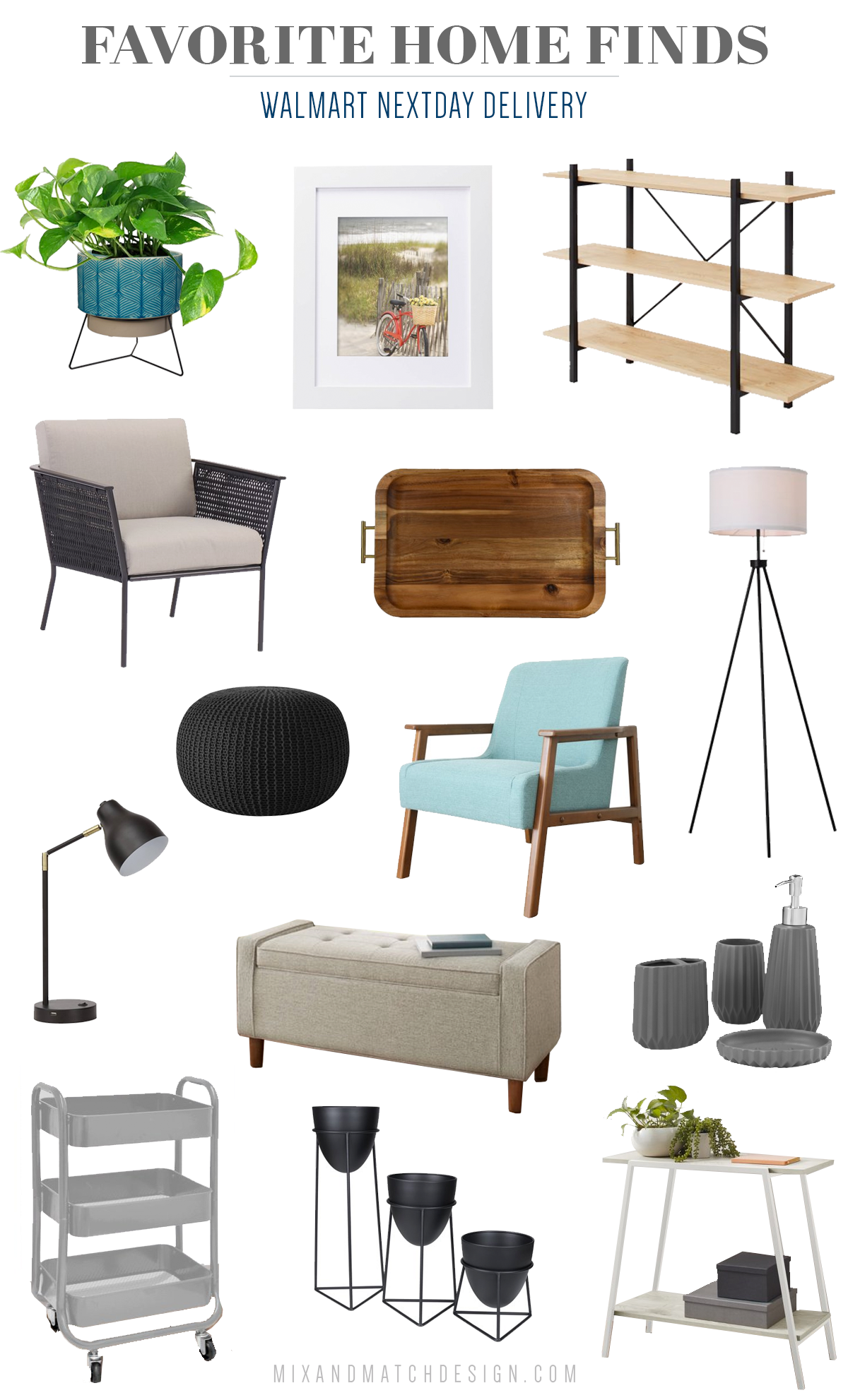 Saving time and money is important to me, so I was excited to hear about Walmart's new NextDay delivery service! It's fast and FREE when you spend $35, and everything arrives the next day in one box. Learn more in my blog post. All of these awesome home decor and furniture finds are eligible!