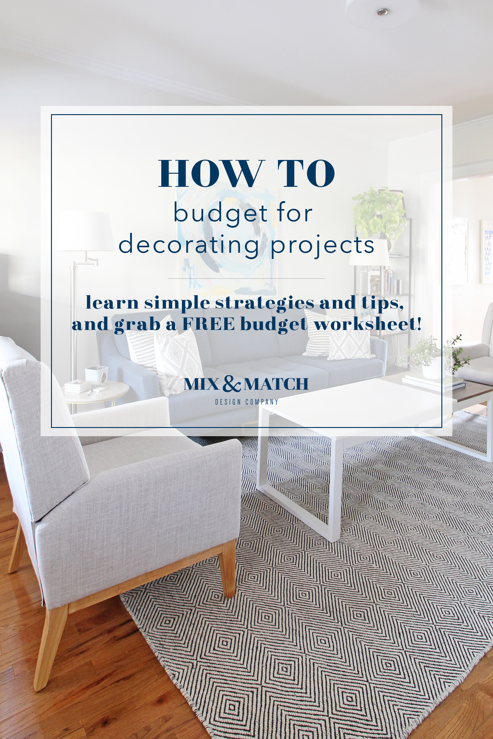Though it might not be the most fun part, coming up with a budget for your decorating project is a key part of making it a successful one! Head to the blog to find out how to strategize and get tips on how to do it easily. I've also got a free budgeting spreadsheet for you to download for your next project!