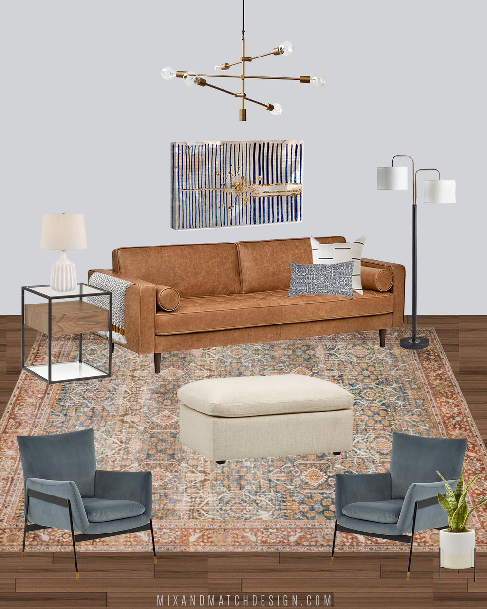 Would you believe that everything in this modern eclectic living room came from Amazon? I'm sharing the sources, my thoughts behind the design, and some tips on making Amazon feel smaller when you're shopping over on the blog!