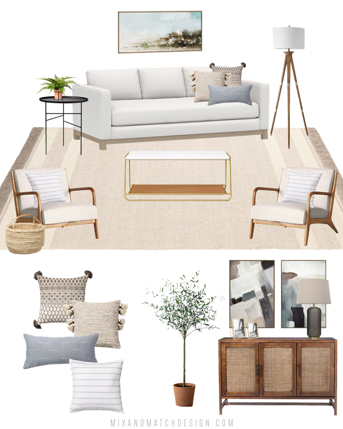 Shop The Design Neutral Clean Coastal Living Room From