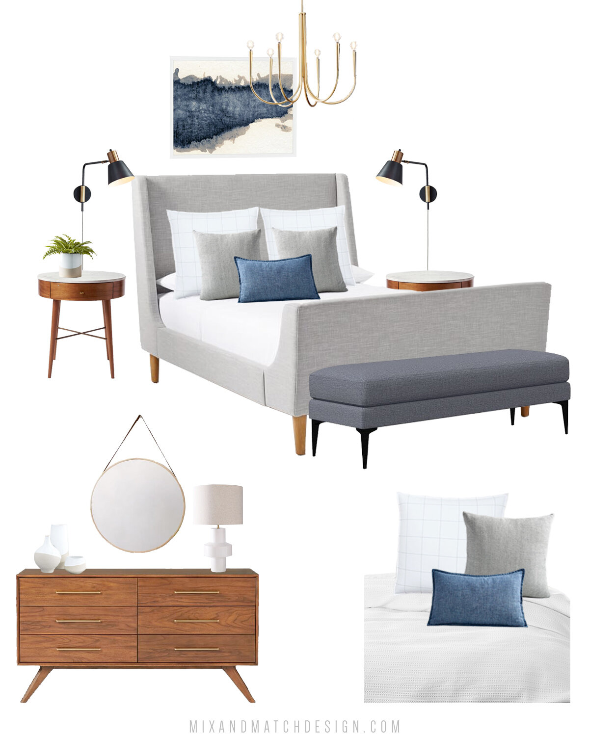 It's time for another Shop the Design! This time, it's a mid-century modern bedroom from West Elm. Grab the sources and hear the thoughts behind the design over on the blog!