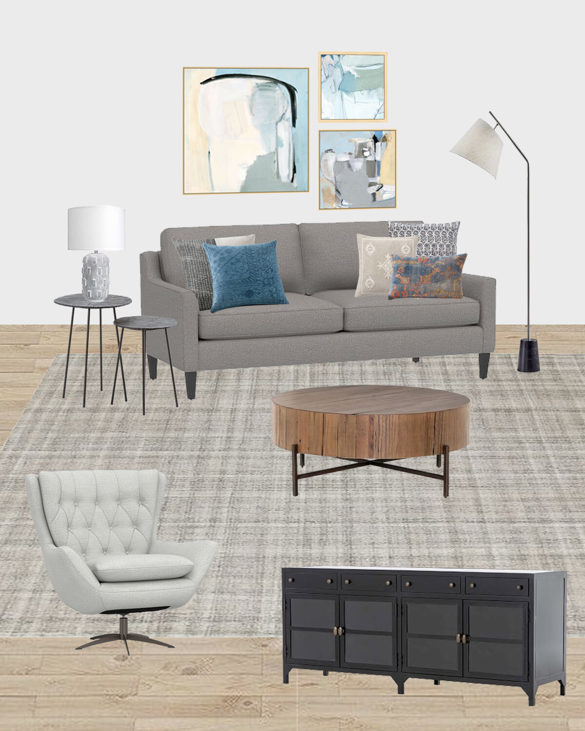 Image of: Shop The Design Transitional Meets Modern Living Room From Pottery Barn