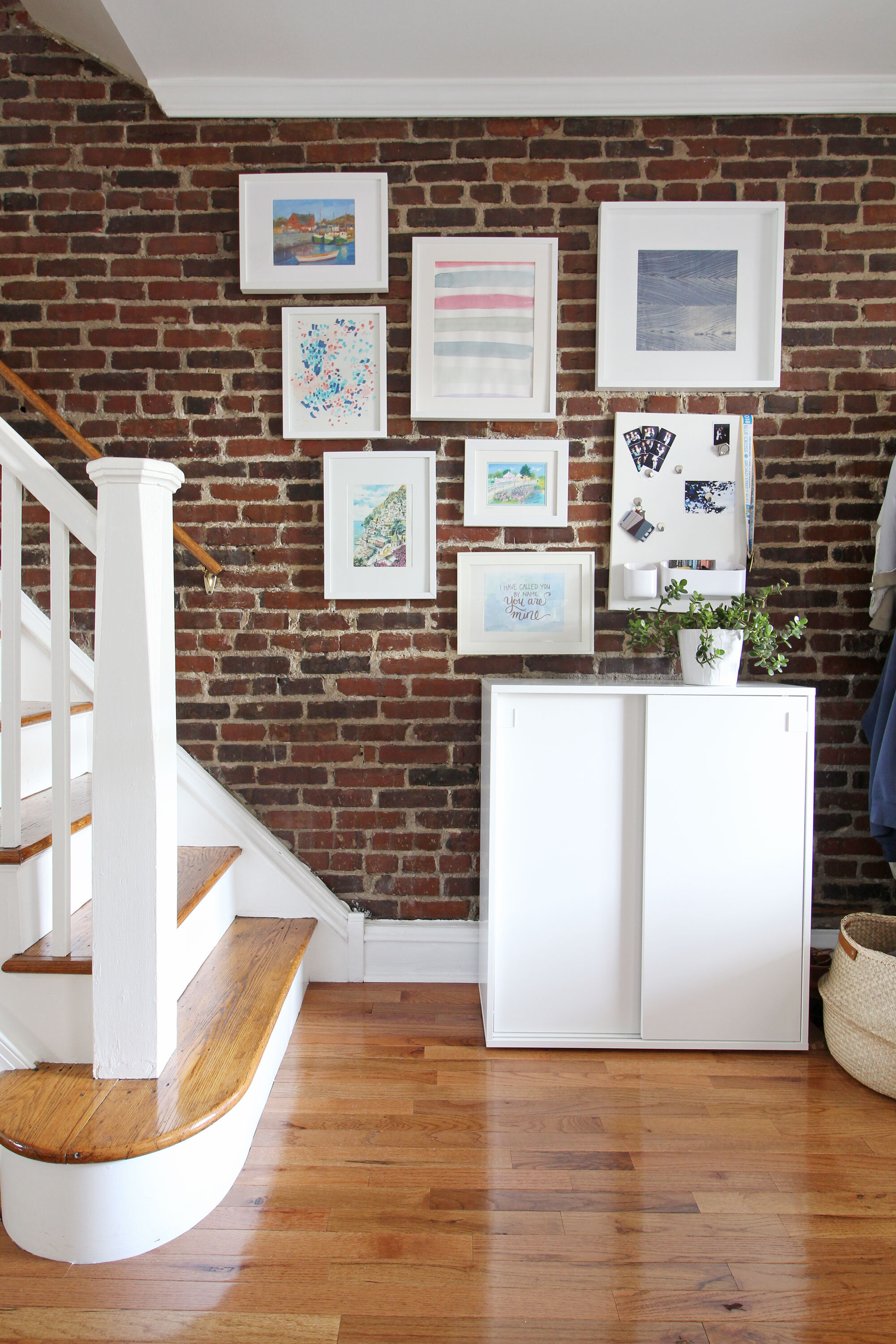 Exposed-Brick-Gallery-Wall-Shoe-Cabinet-Entryway.jpg