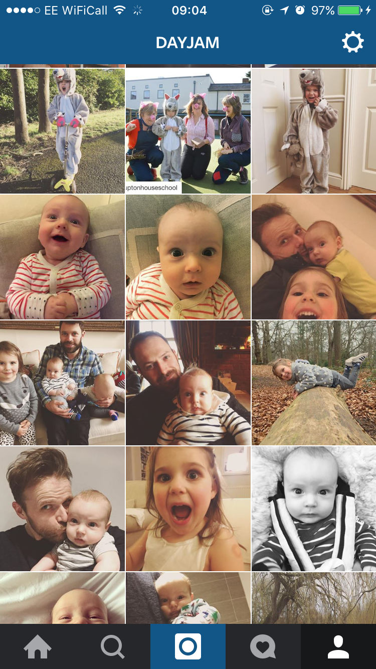 MY INSTAGRAM as a parent: ERR, PRETTY MUCH JUST PHOTOS OF MY CHILDREN.