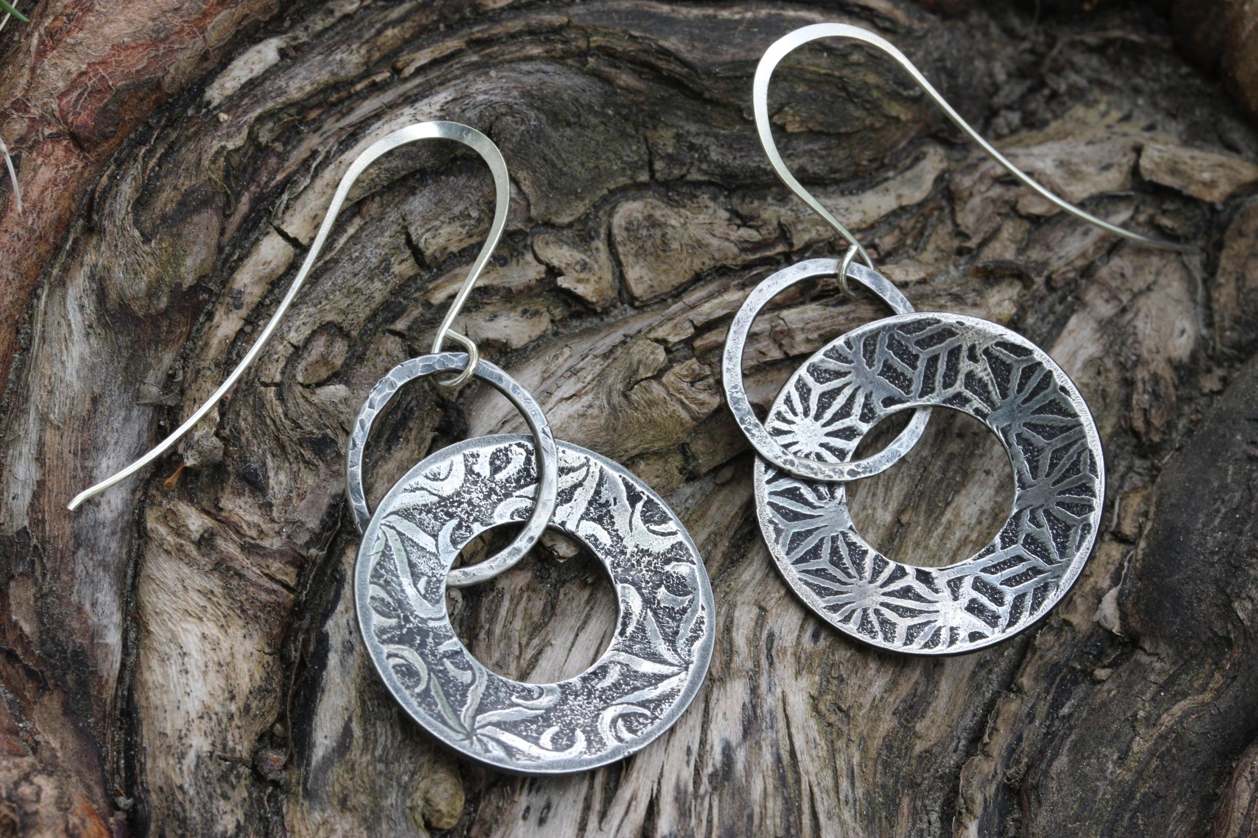 Asymmetrical Pattern Earrings
