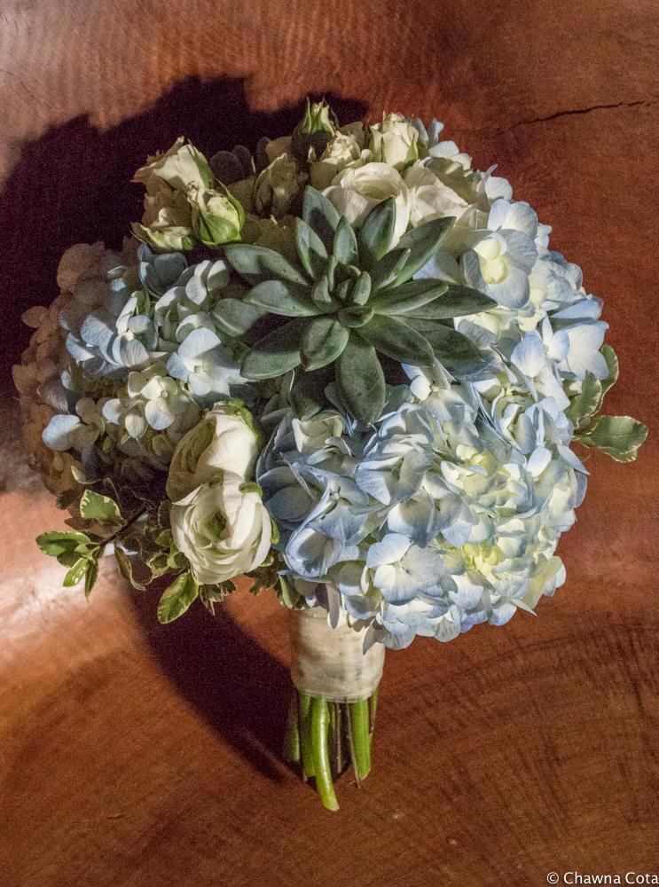 Succulent and Hydrangea Bridal Bouquet