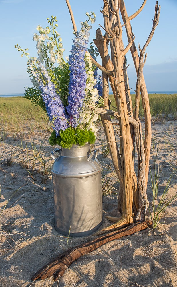 Pebble and Branch Floral Design