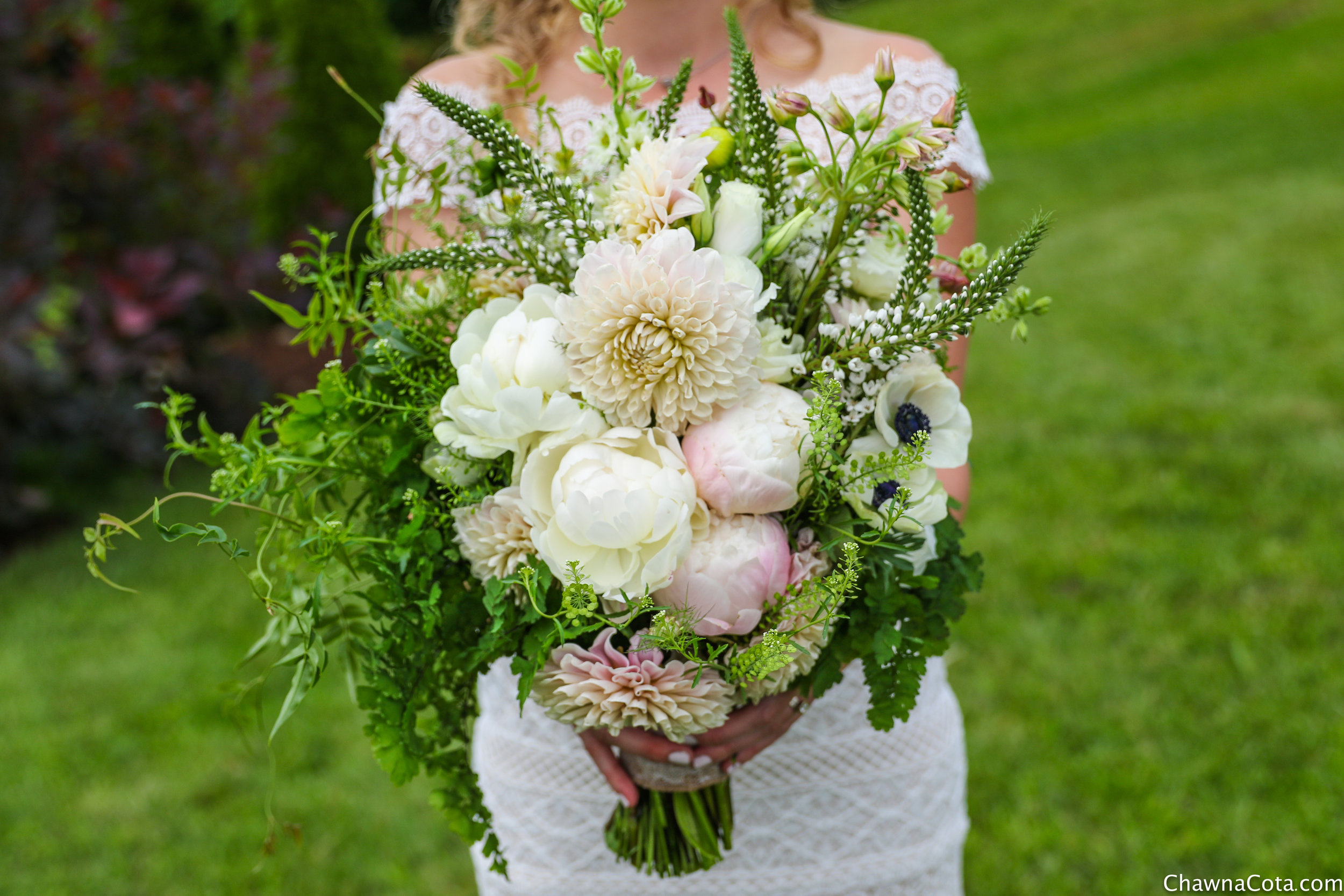 Dahlia Peony Anemone Bridal Bouquet