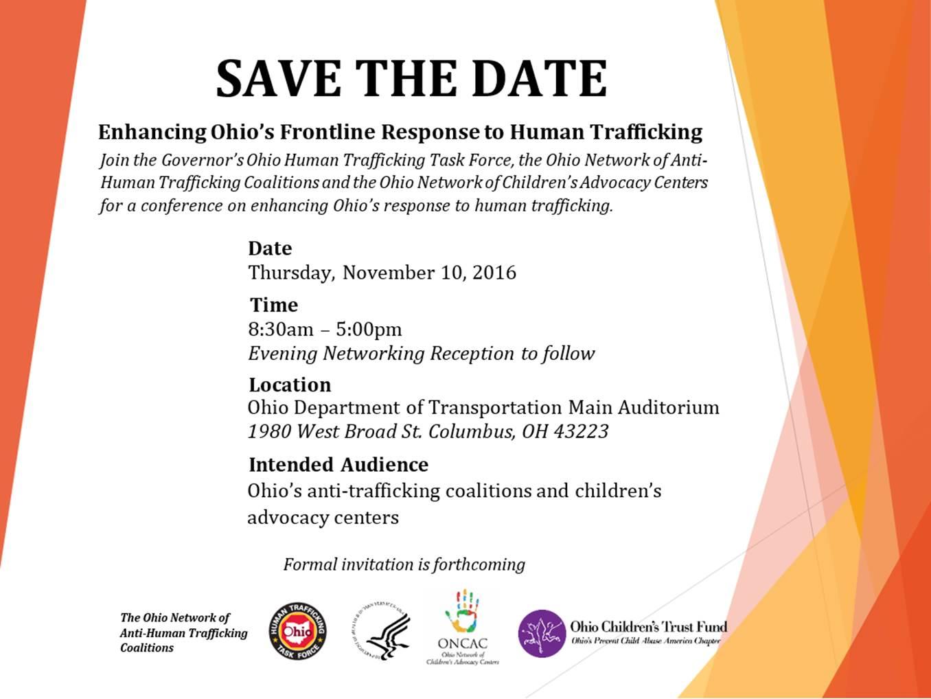 Enhancing Ohio's Frontline Response to Human Trafficking
