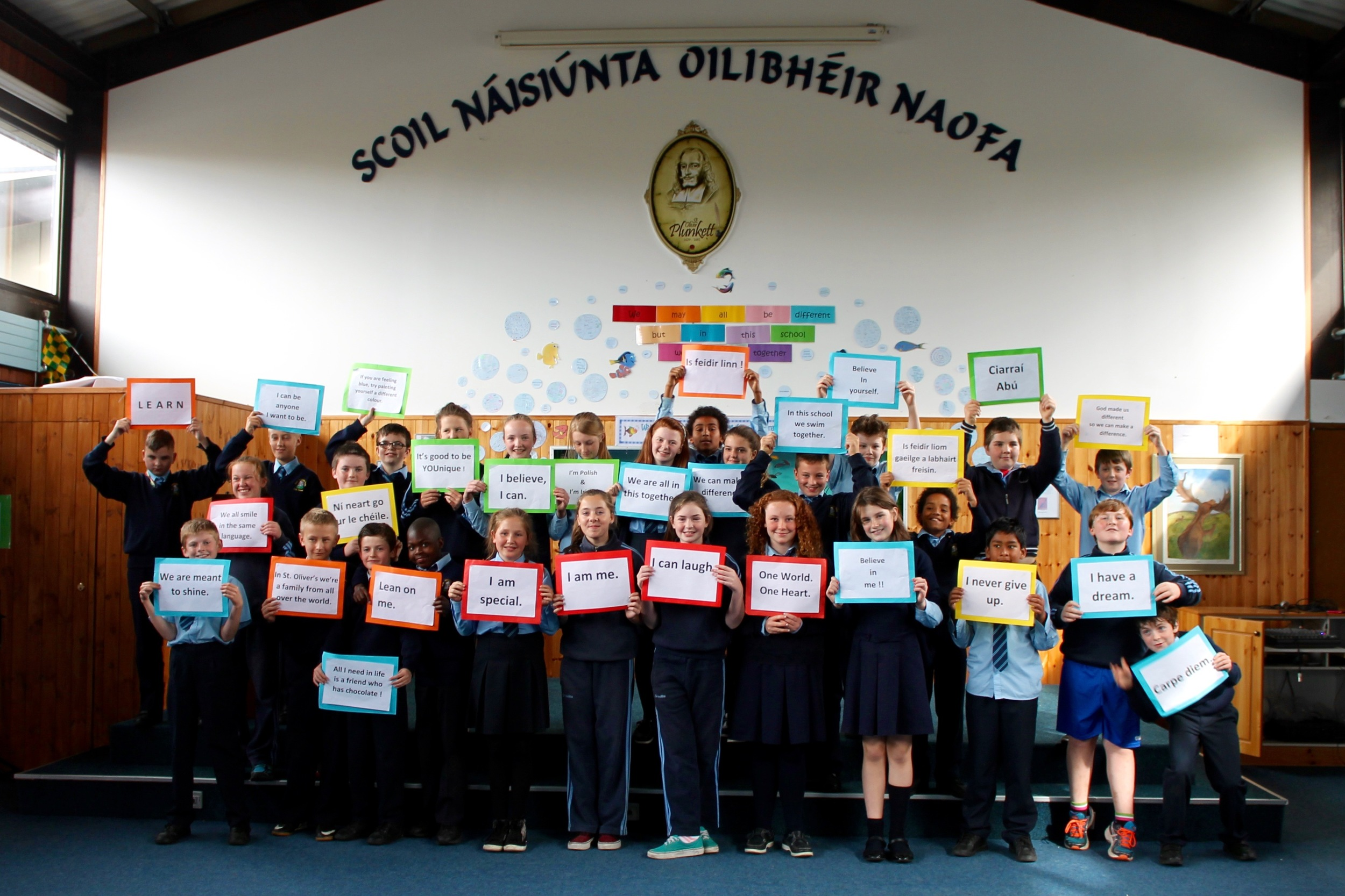 With 45 nationalities, St. Oliver's NS is one of Ireland's most diverse schools