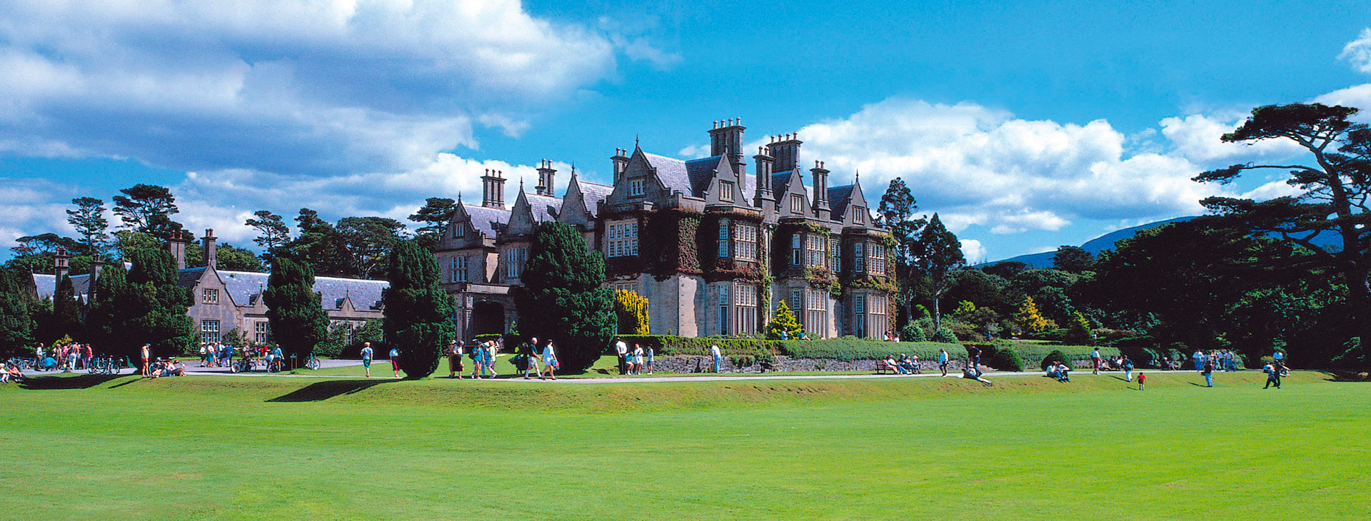 Muckross House is located in Killarney National Park, in County Kerry