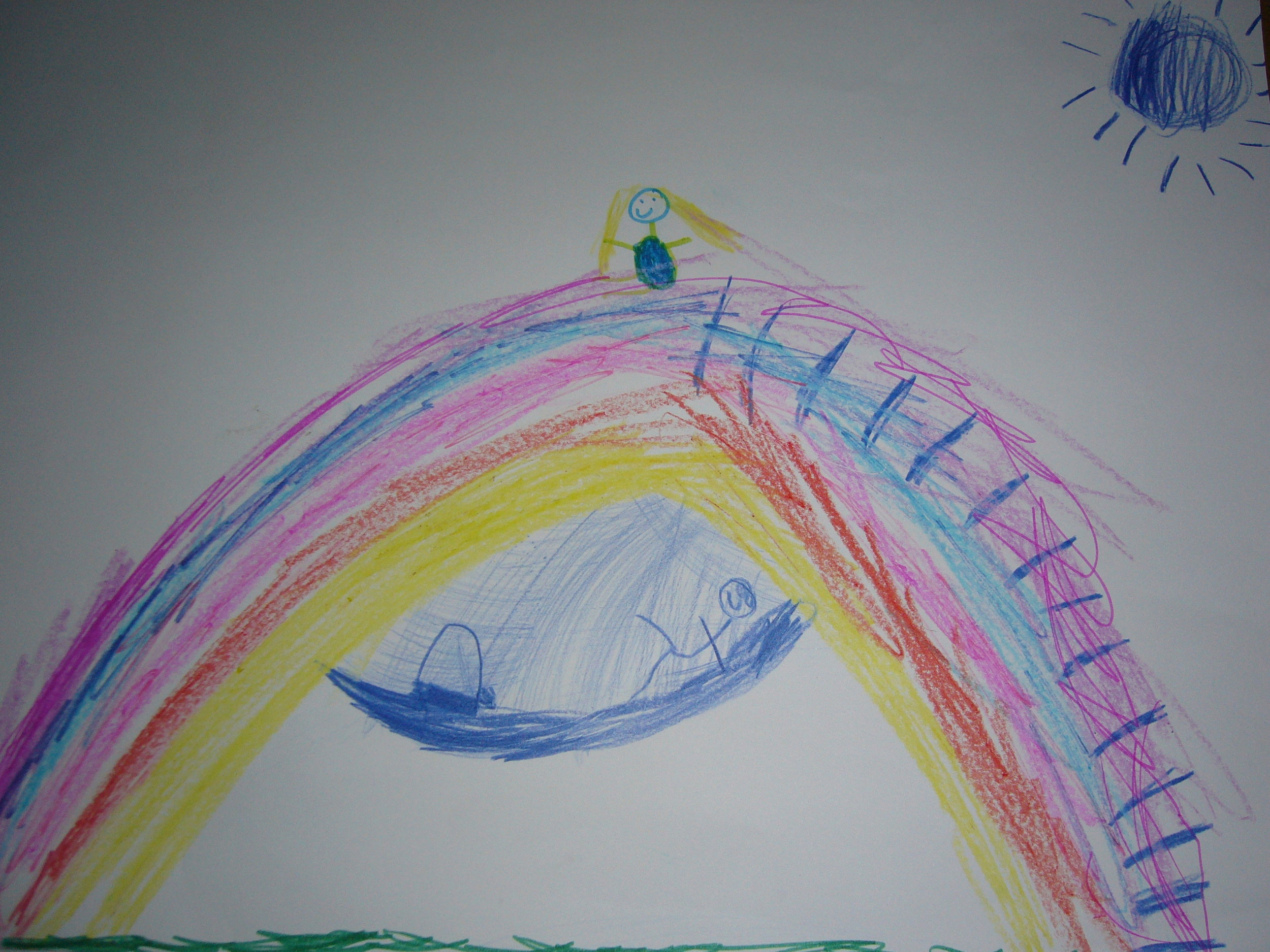 A drawing by a student of Our Lady Immaculate JNS, submitted as part of their meditation practice feedback
