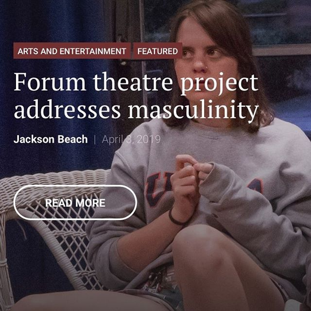 "Check out the article for ""The Men's Project"" link is in the bio. Thank you to @jackyboybeach for a great article! Hope to see y'all this weekend for the performances in the Cafe Theatre at Trinity: Saturday at 3PM and Sunday at 5PM.  #tumensproject #theatreforsocialchange"