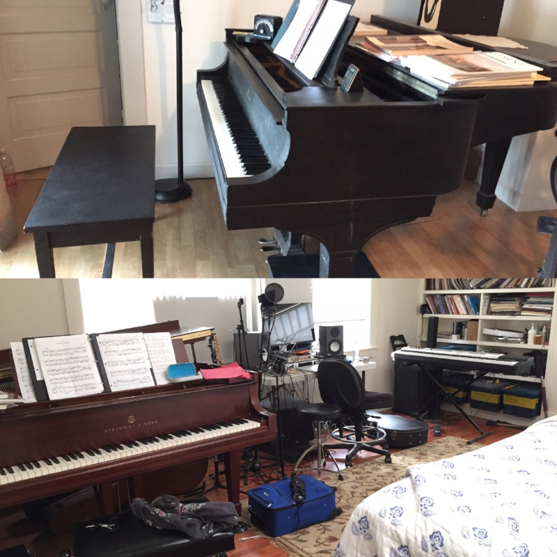 Piano lodgings #1 and #2!