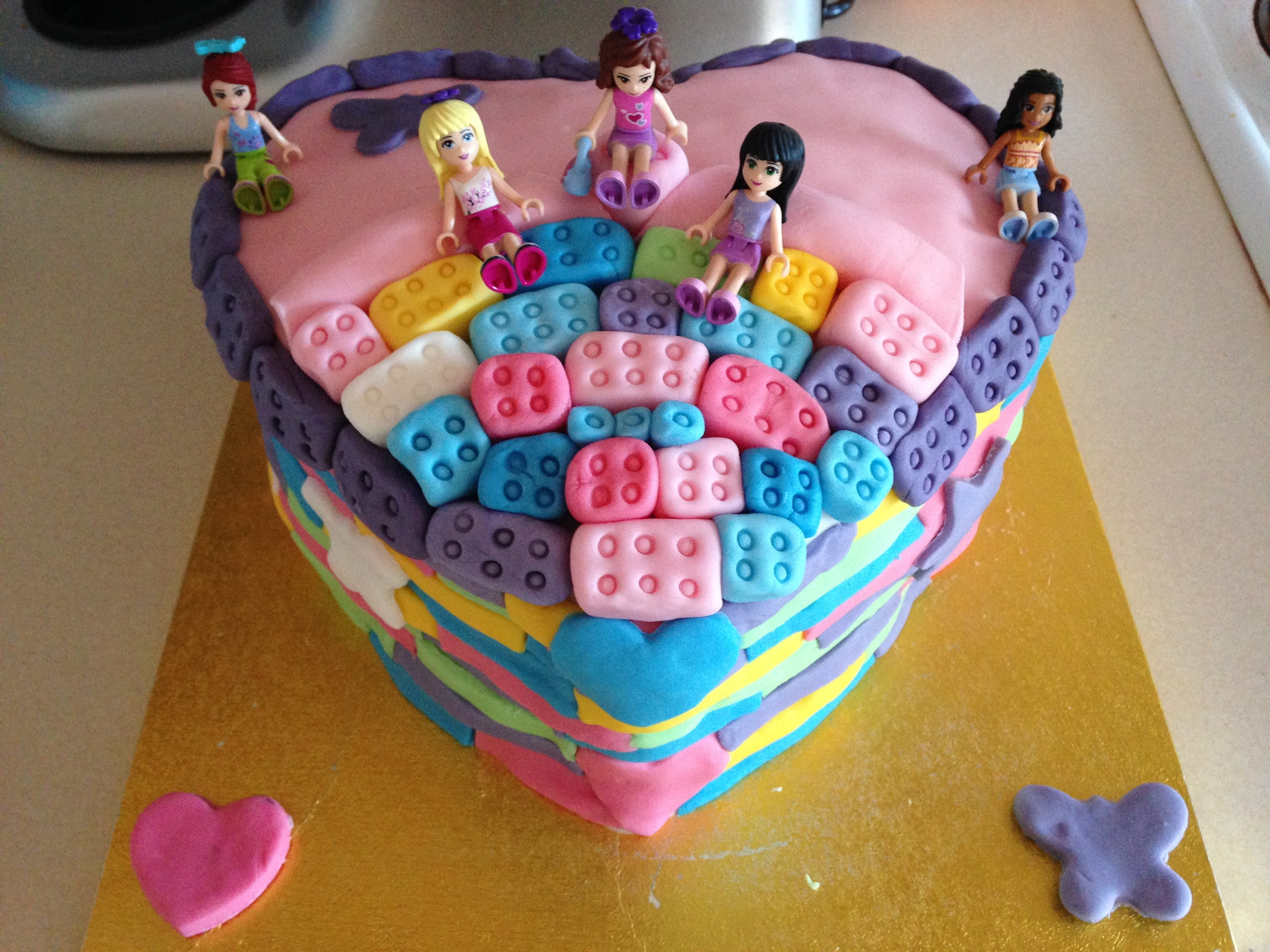 Lego Friends Cake - Building Time — Lots of lotty