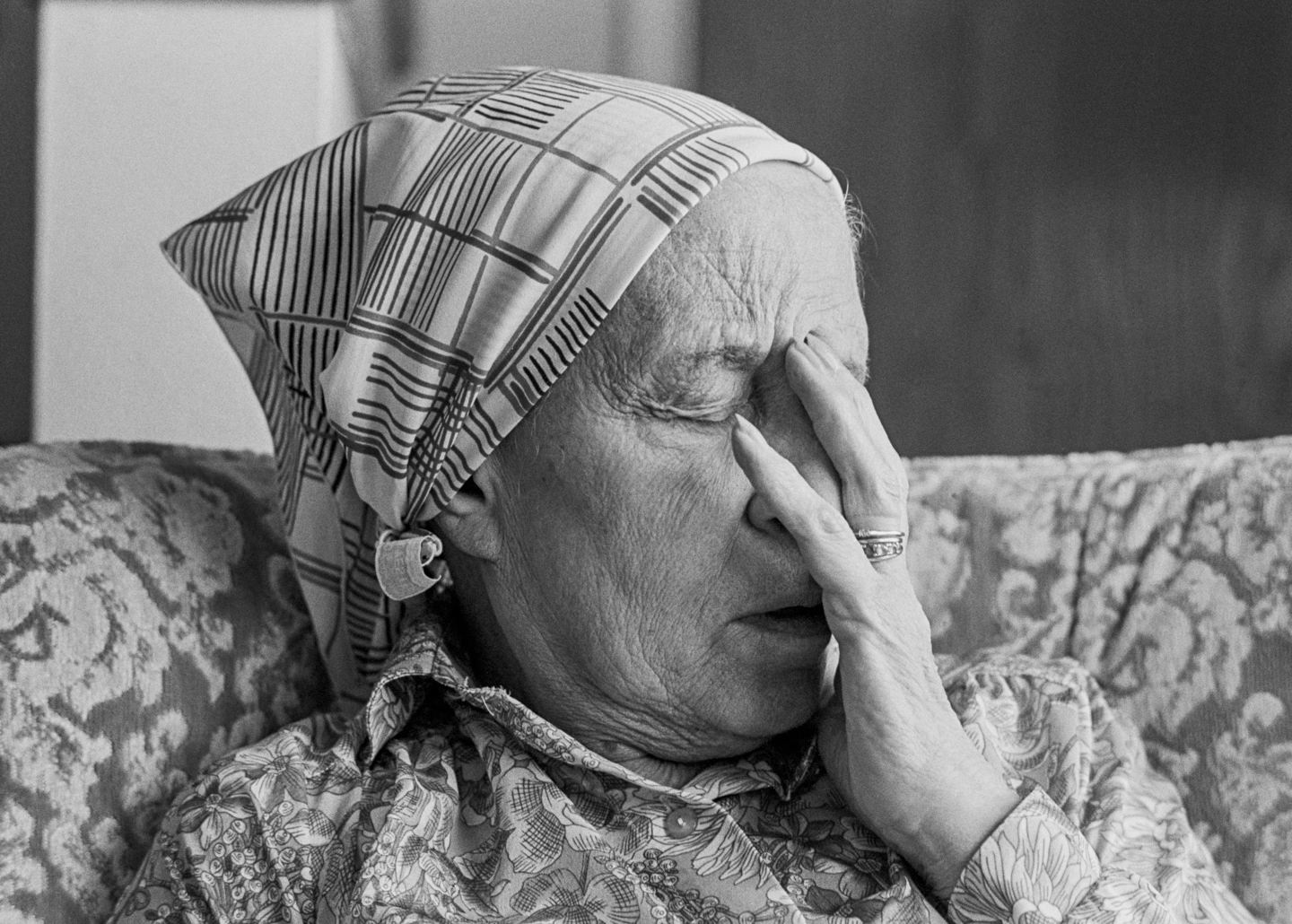 Mother experienced moments of intense pain as the two walnut-sized growths in her brain had no room to expand. She didn't like to take her pain medications.