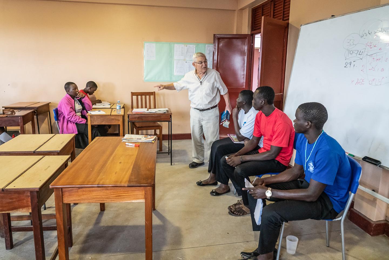Tony Wach, SJ, Teaches a Class In Contemporary Christian Living.