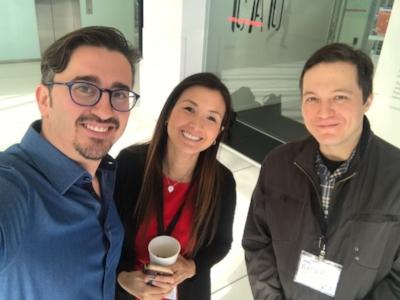 Photo: (left to right) Dr. Ahmed Altayyar, Alicia Chong, Erdem Yilmaz