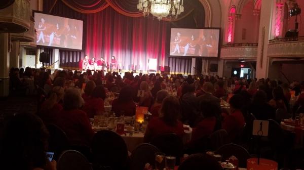 Photo: Red Couch Panel:Joan Wallace-Benjamin, Judy Shen-Filerman & Cathy Jeon
