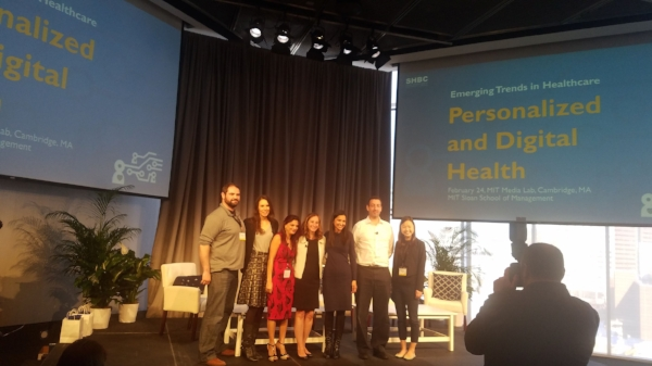 Photo: (left to right) Ben Linville-Engler, Ashlee Adams, Dr. Rajni Aneja, Lesley Solomon, Sukanya Soderland, Adam Hanina and Jessica Kao