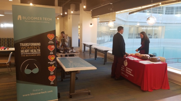 Photo: Bloomer Tech and AHA booths