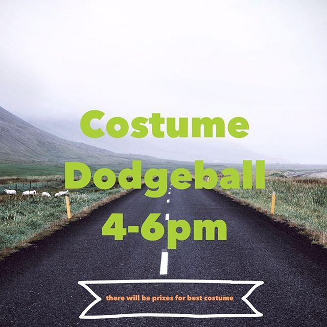 TODAY!! San Juan Community Center.  Dress up dodgeball! It's going to rock!