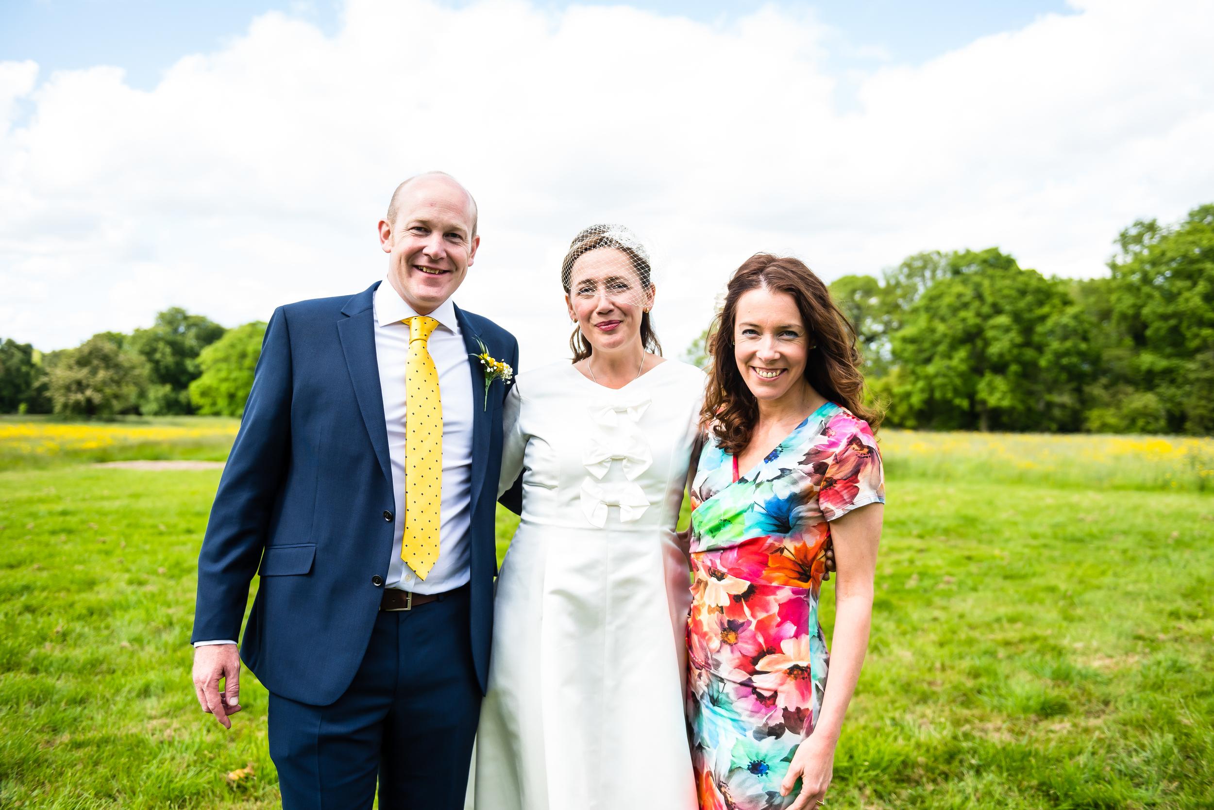 Celebrant Jo Clarke with the Newlyweds - My Perfect Ceremony - Wedding Celebrant Testimonial - Nic & Steve