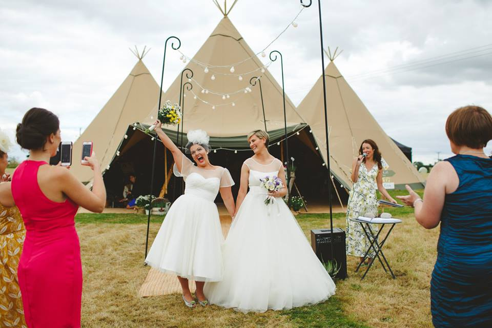 Lisa & Hayley - Outdoor Tipi Wedding Ceremony | www.myperfectceremony.co.uk