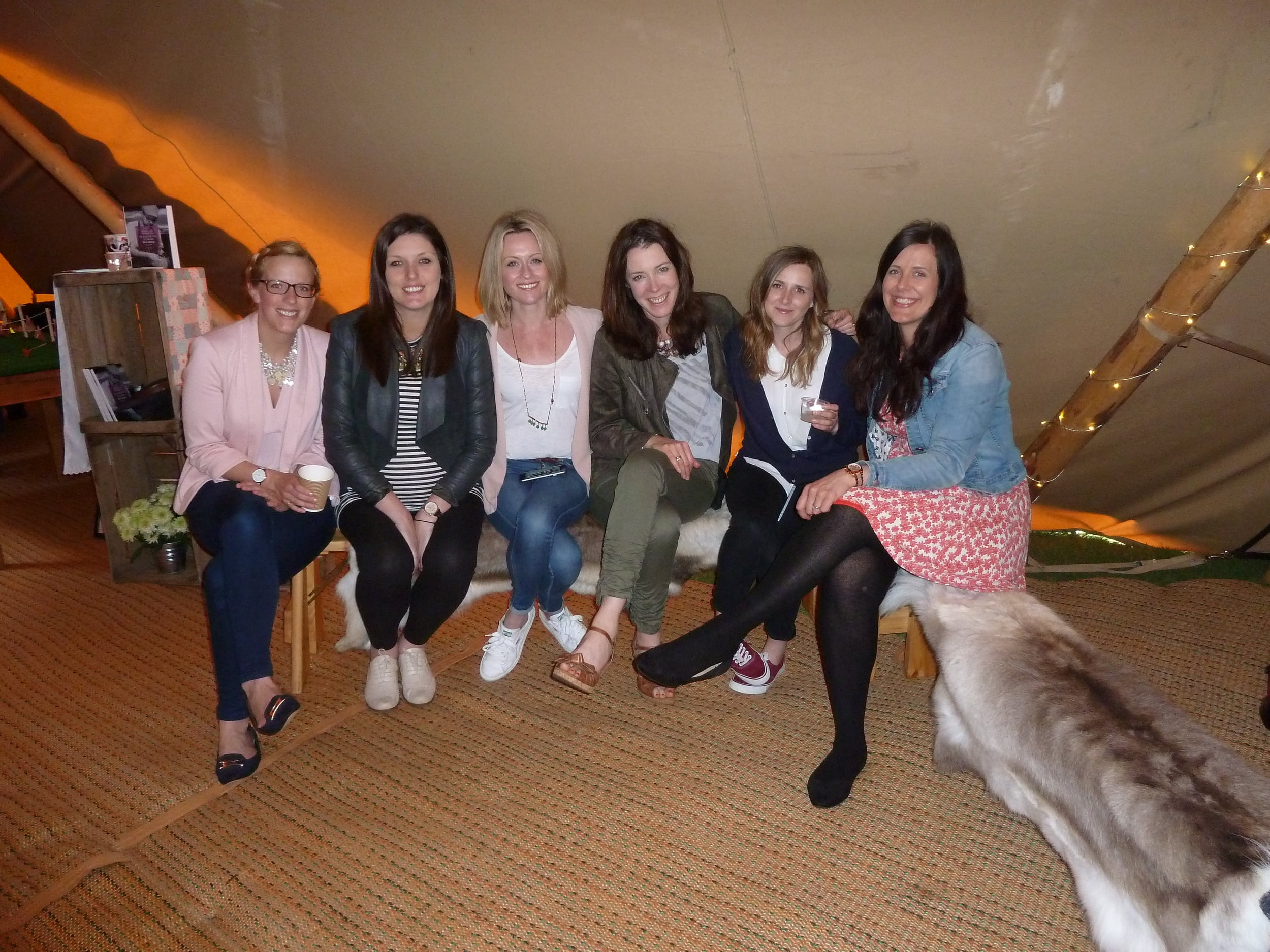 This picture was taken at the end of the day with some lovely suppliers -Allie, Lisa, Karen, Lara and Kerry