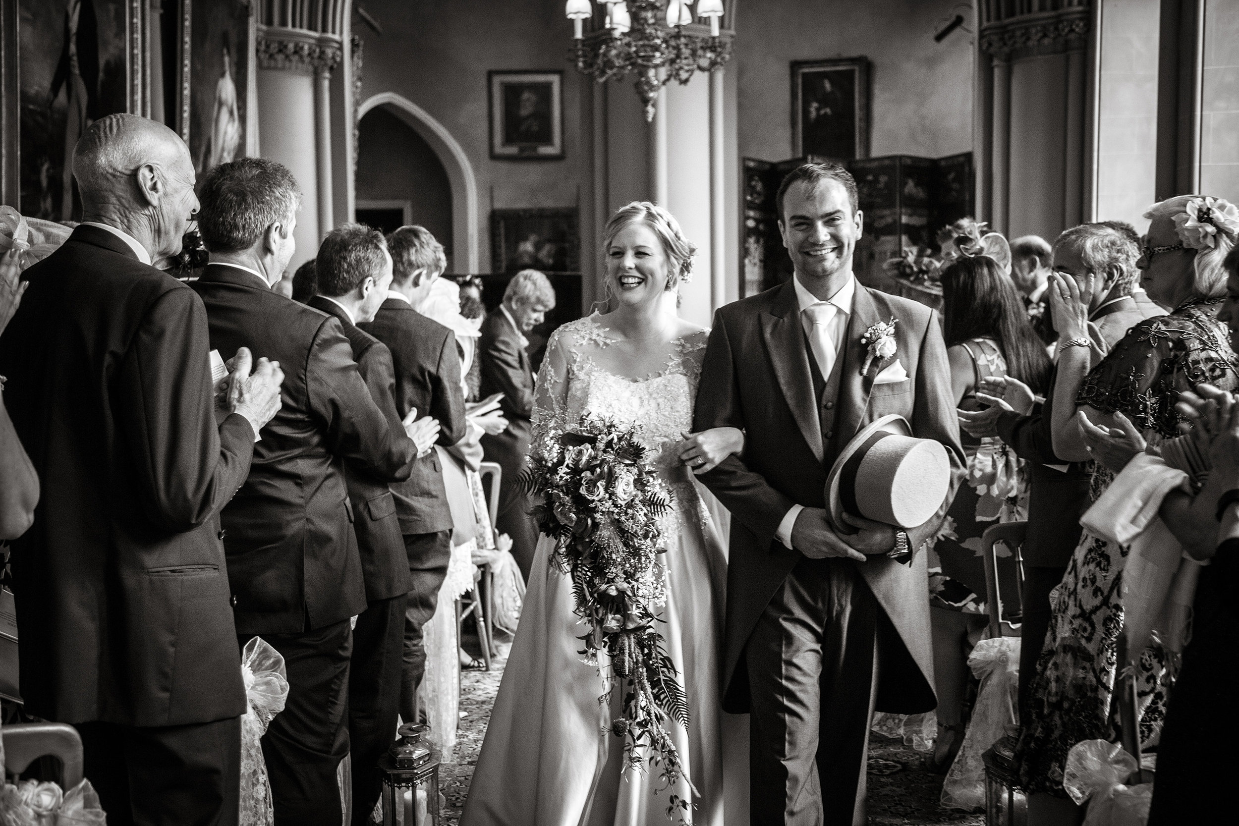 A traditional wedding with an American twist as the beautiful Belvoir Castle