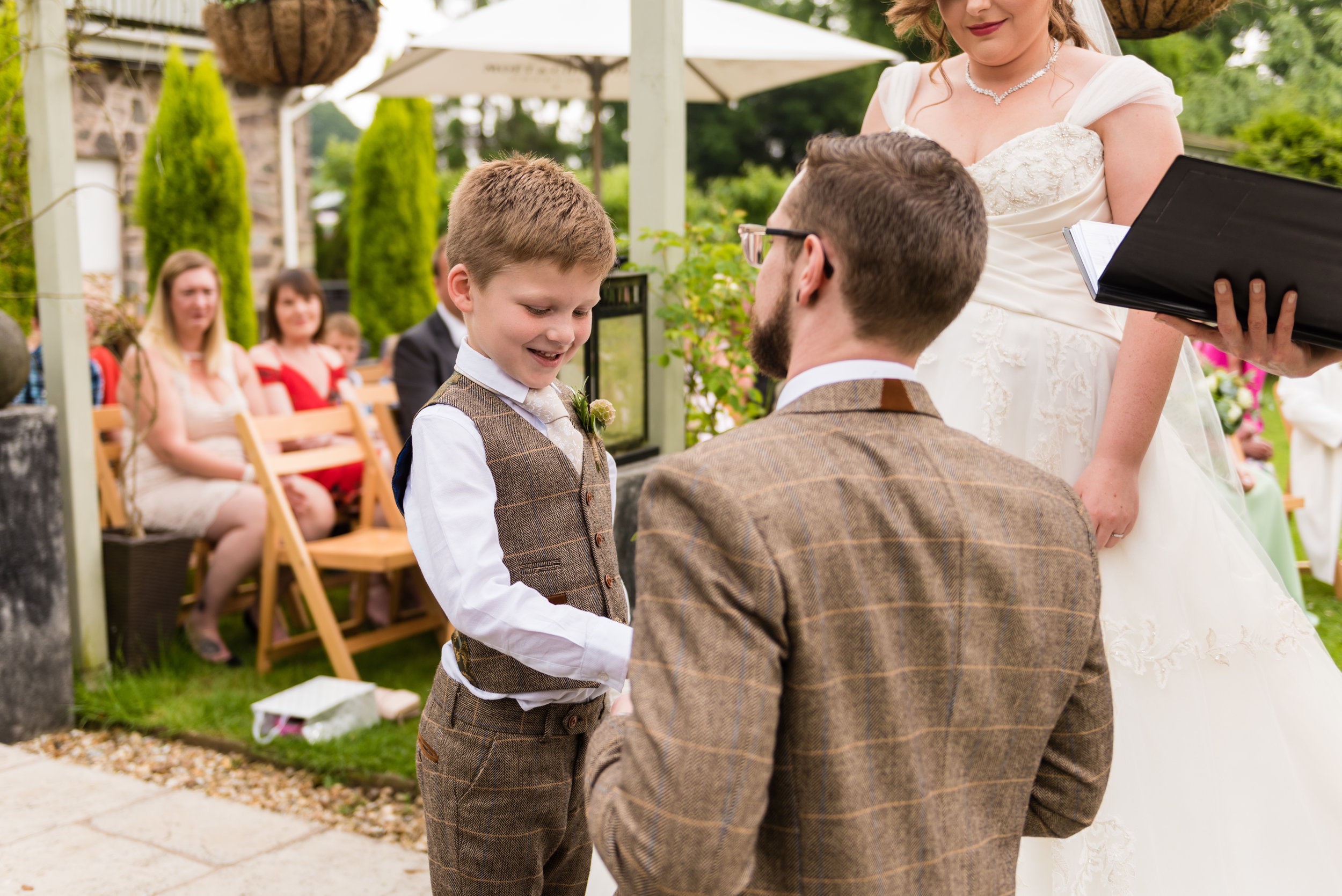 Doting Stepfather's emotional vows to stepson