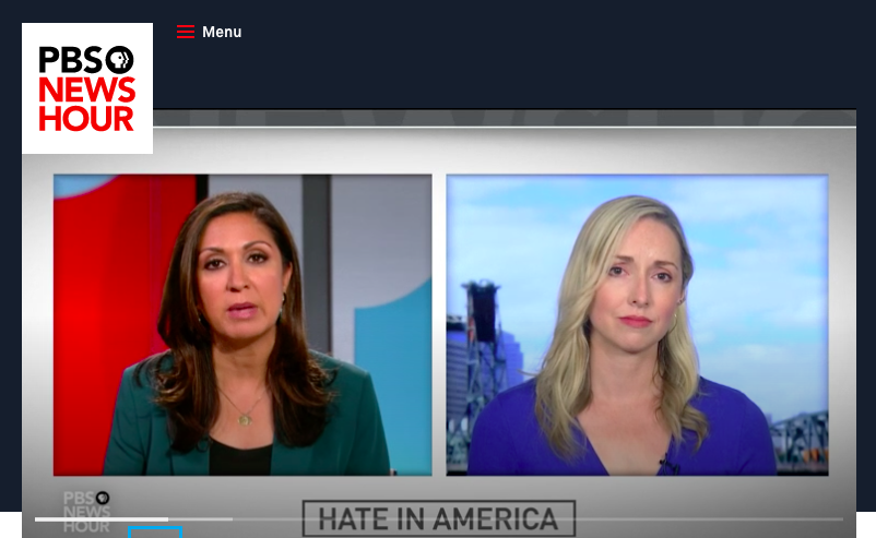 """PBS NewsHour - """"Why domestic terrorism is an underestimated national threat,"""" August 5, 2019"""