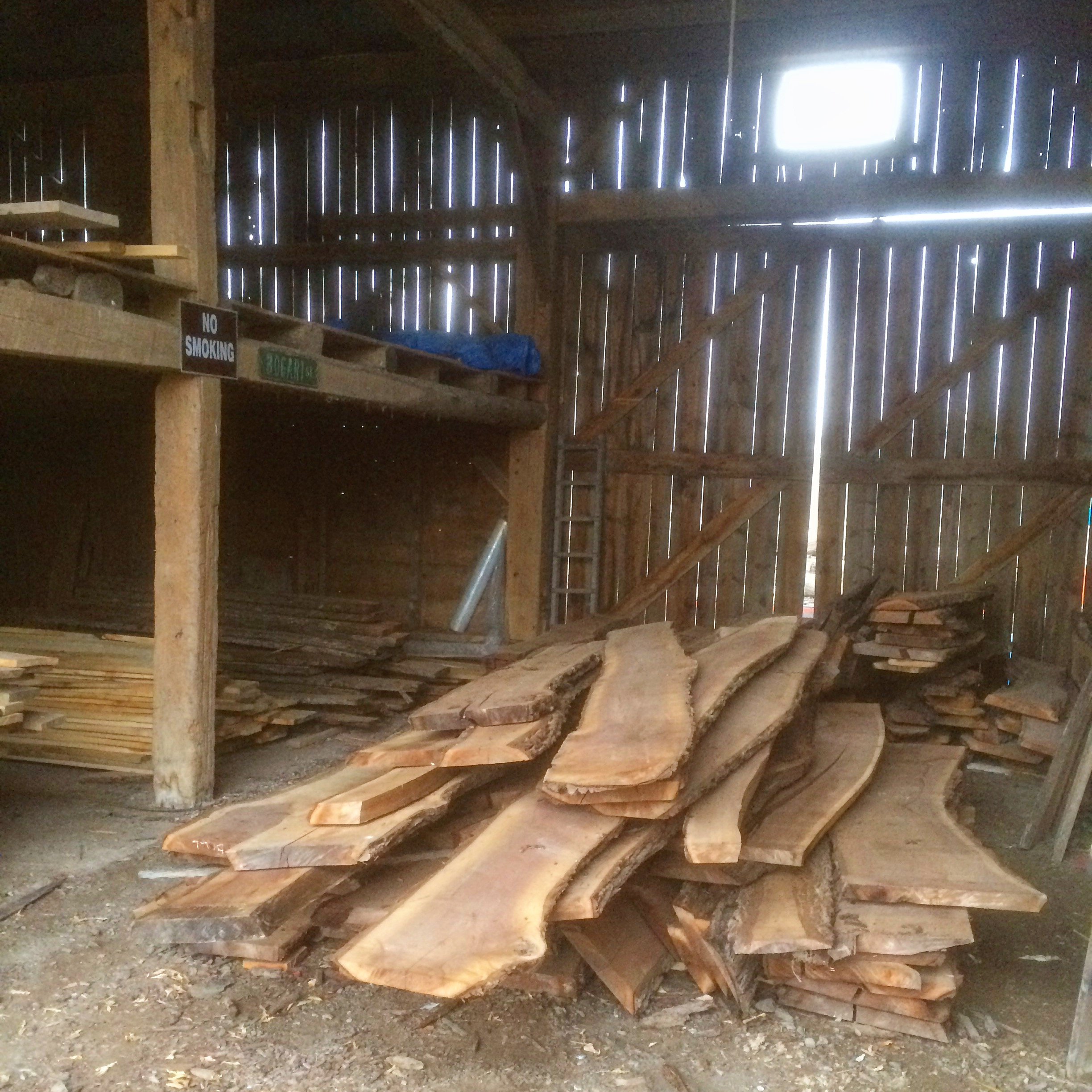 Buying Wood from a local Sawyer....out of his barn